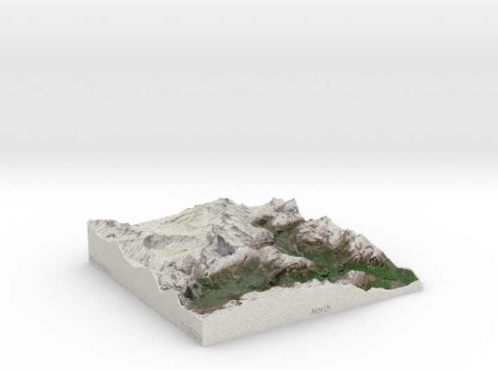 Jungfrau Region, Switzerland, 1:150000 Explorer 3d printed