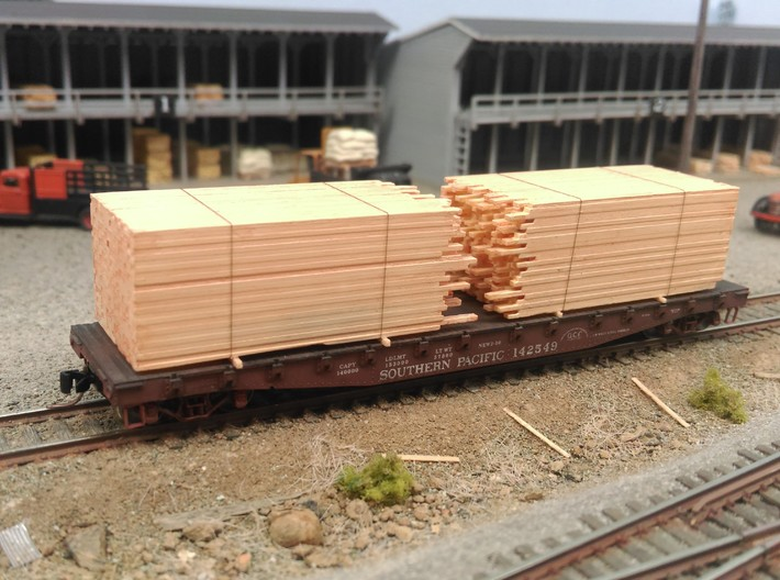 N  Lumber Load For 1 Flat Car: WOT, MTL, Athearn 3d printed Micro Trains