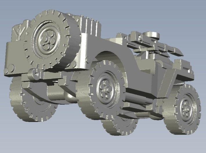 1/100 scale WWII Jeep Willys 4x4 SAS vehicle x 1 3d printed