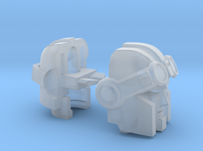 Whiny Hauler head customized for Universe Warpath 3d printed