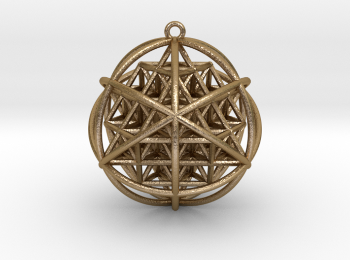 Planetary Merkaba Sphere w/ nested 64 Tetrahedron 3d printed