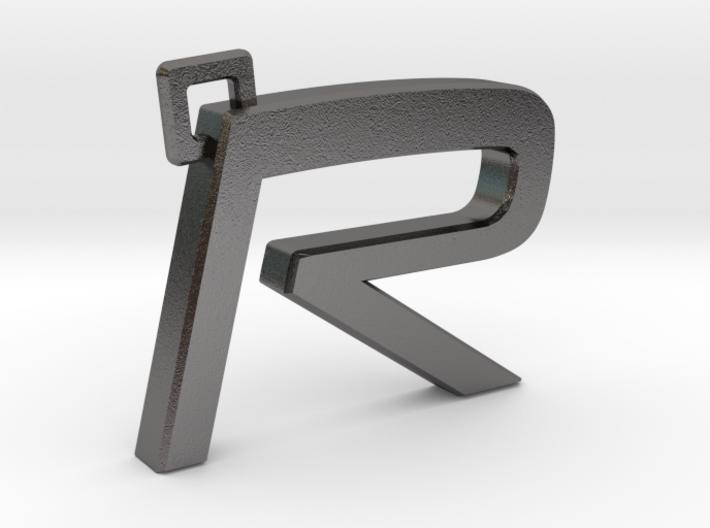 Volvo R Logo Keychain 3d printed Volvo R keychain (metal)