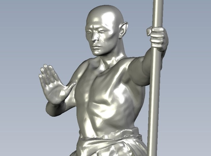 1/15 scale Shaolin Kung Fu monk figure B 3d printed