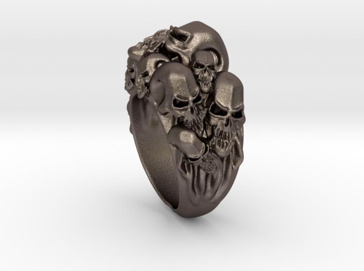 Skull Biker ring RS005000002 3d printed