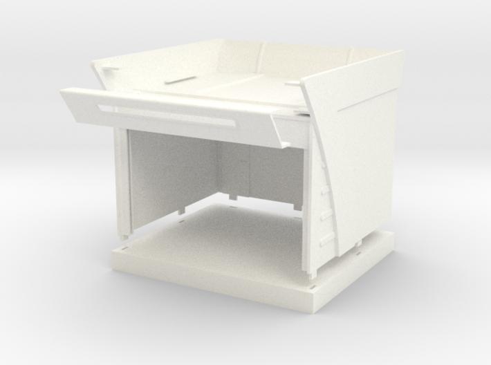 Garage for Slotcar Track (1/43) 3d printed
