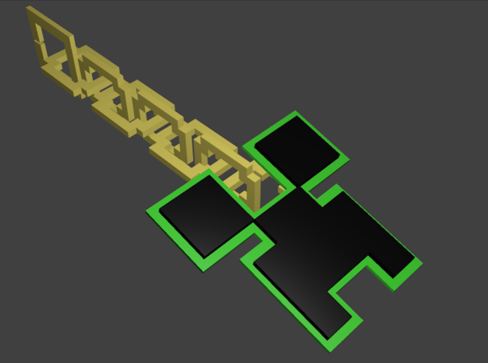 Creeper Key Chain 3d printed This is my colored version this one can not be bought
