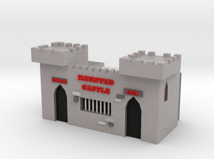 HO Scale Haunted Castle 3d printed
