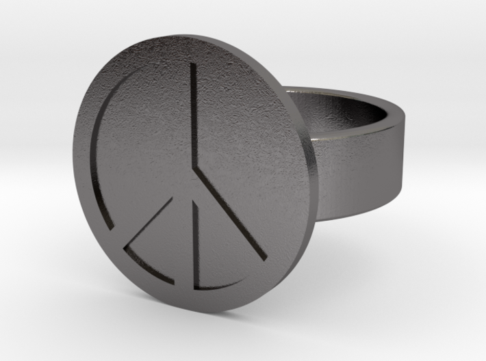 Peace Ring 3d printed