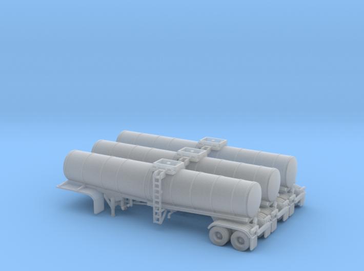 N scale 1/160 Crude oil trailer, Brenner 210 x3 3d printed