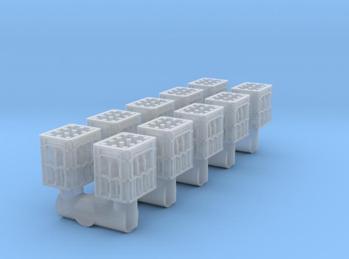 10 Mineralwasser-Kästen (N 1:160) 3d printed