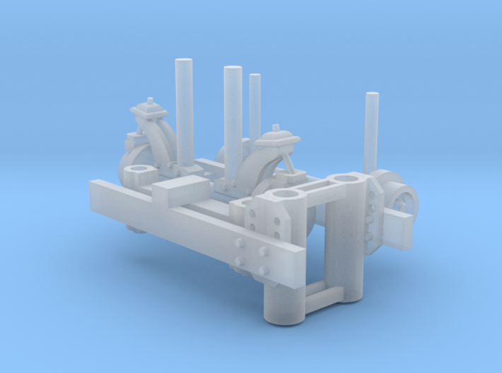 Hyrail 1-87 HO Scale 3d printed