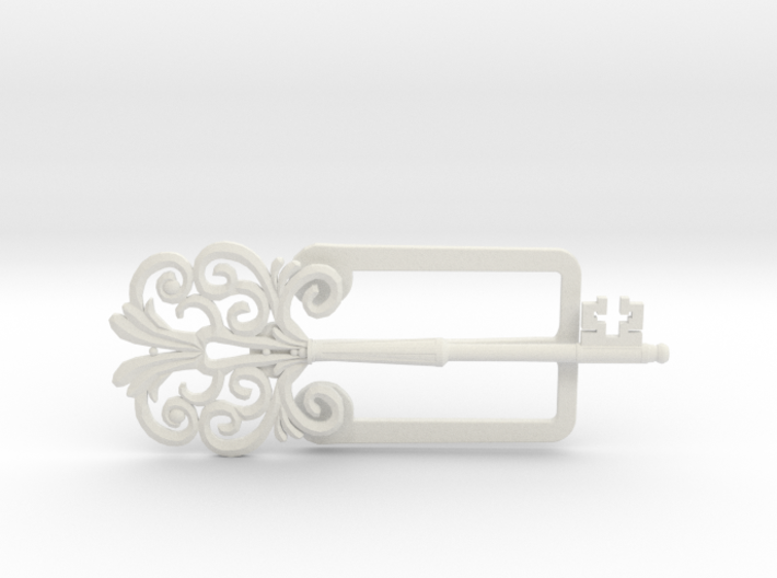 Clamp with an ancient beautiful key 3d printed