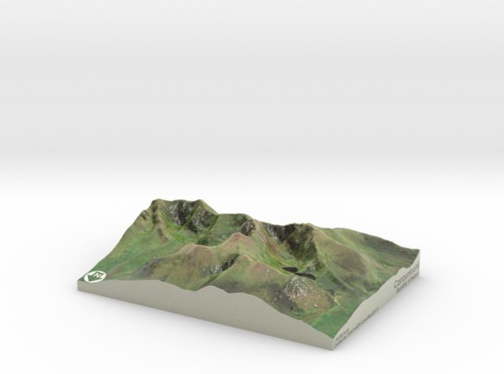 Carrauntoohil Map, Ireland 3d printed