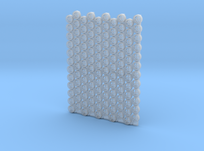 3202 - 1/32 padeyes for aircraft elevator, 120pcs 3d printed