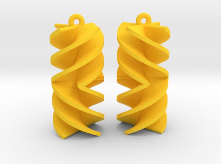 Absolute Rotini Earrings 3d printed