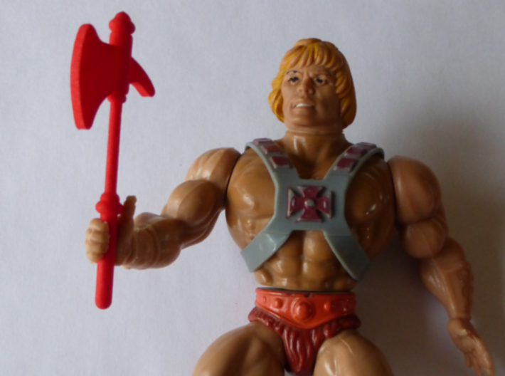 MOTU replacement ax for 1980s Castle Grayskull 3d printed