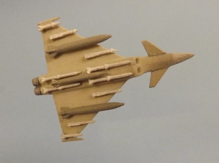 1/285 (6mm) Eurofighter Typhoon Ordnance II 3d printed Add a caption...