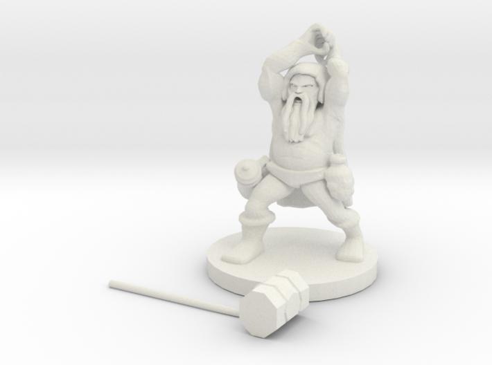Dwarf Berserker 3d printed