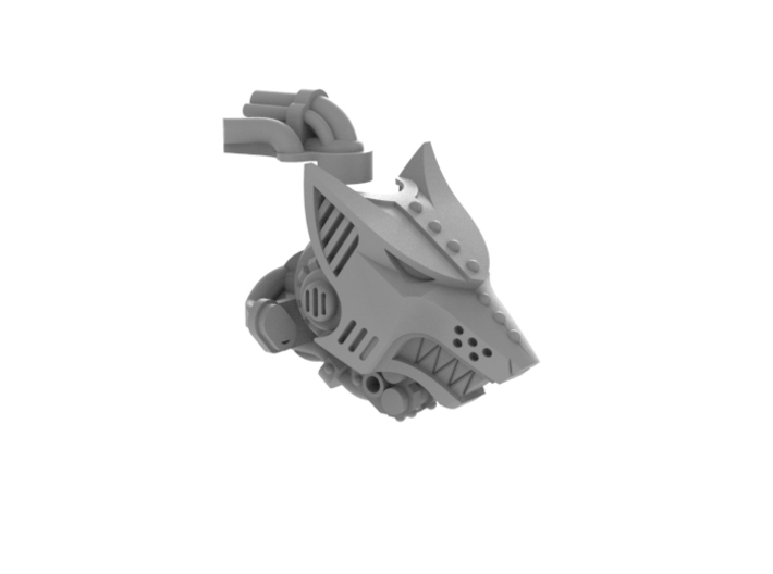 Iron Wolf - Head 3d printed