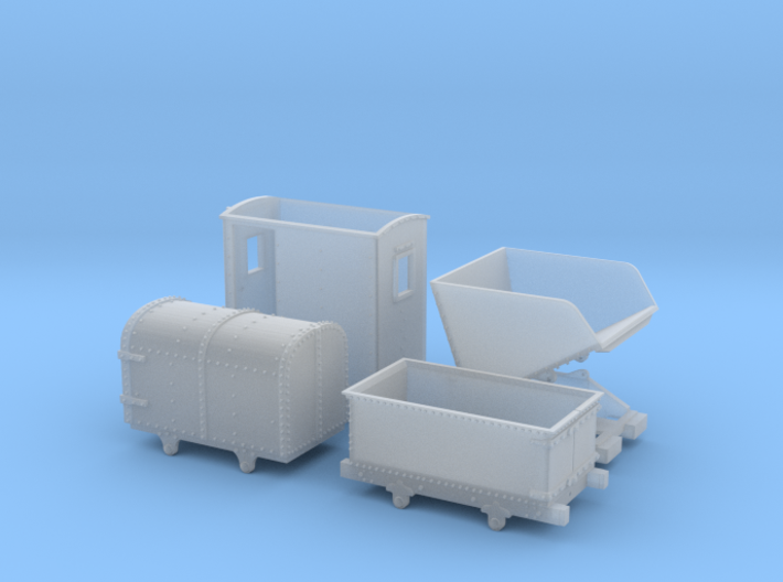 009 Mixed Welsh wagon set 3d printed