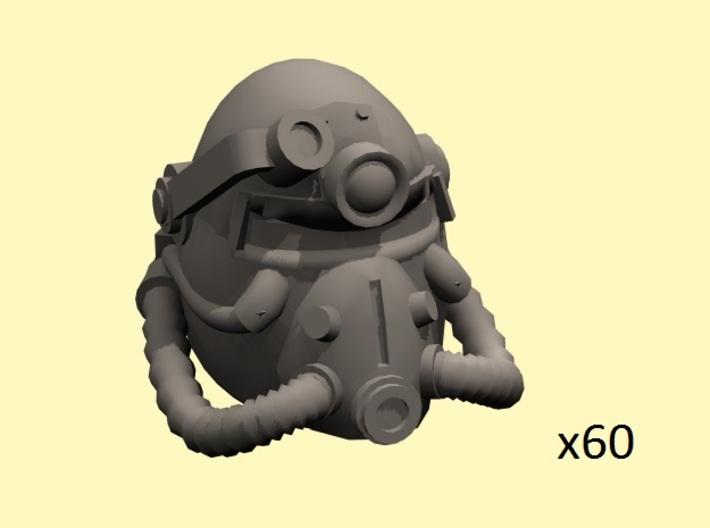 28mm Wastefall PA helmets (60) 3d printed