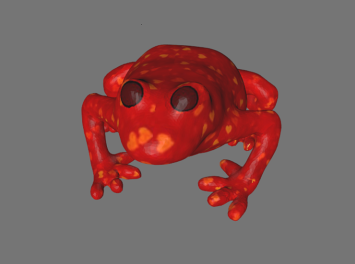 Valentines Heart Frog 3d printed