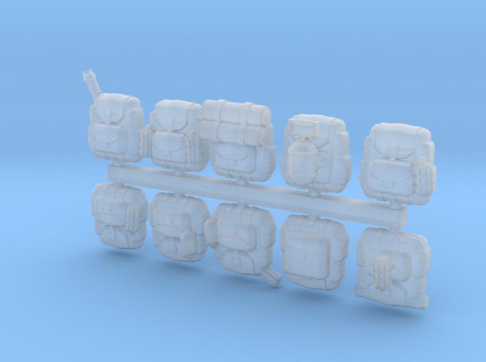 28mm Soldier backpacks (10) 3d printed