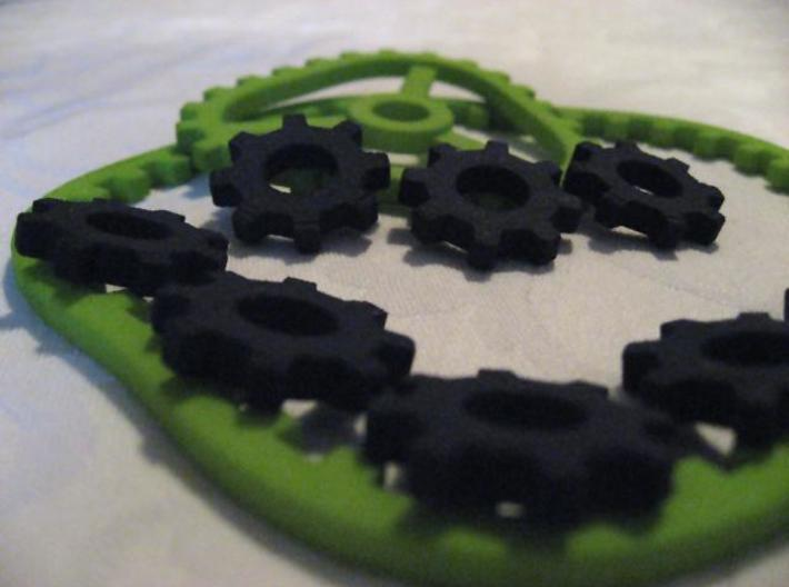 Hypotrochoid 3 to 5 part 2 of 2 3d printed Close up parts