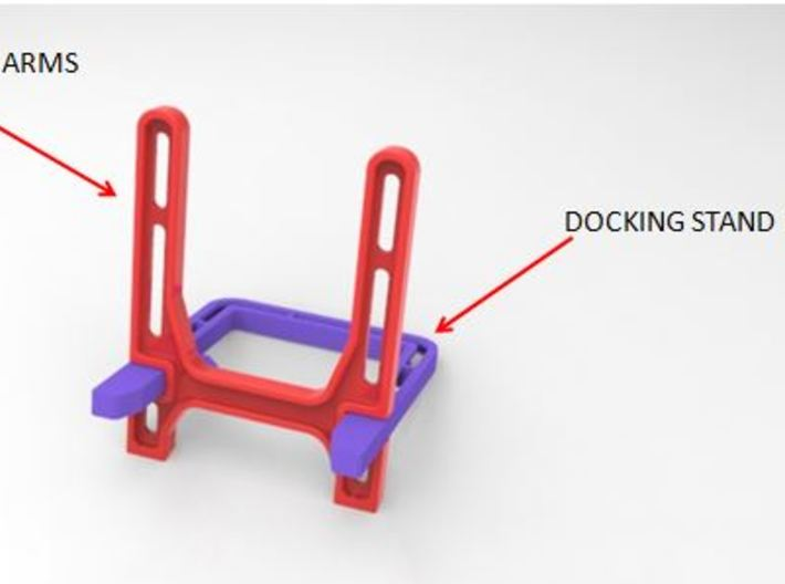 Smart Phone Docking Stand  3d printed Easy 2 Part assembly and dismantling