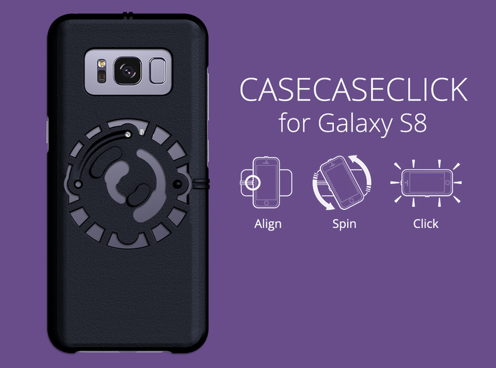 for Galaxy S8 : smooth : CASECASE CLICK 3d printed smooth