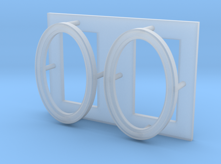 """Picture Frame 5/16"""" x 1/2"""" Oval-35 3d printed"""