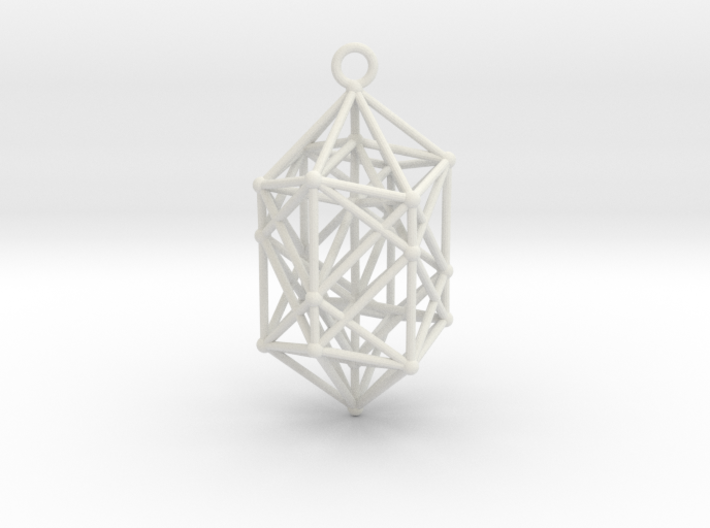 Hyperdiamond Crystal - 4D 24 Cell pendant 3d printed