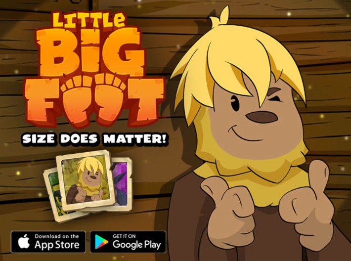 Little Yellow Top 3d printed Download Little Bigfoot for Free!