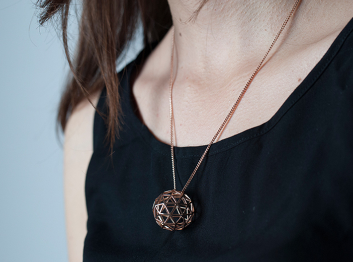 Geodesic Sphere Necklace 3d printed