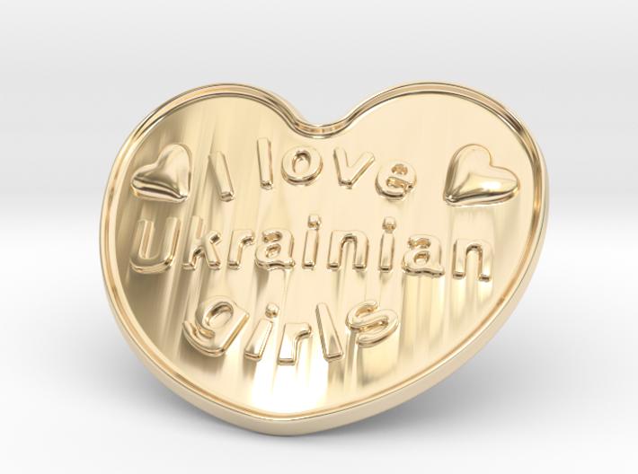 I Love Ukrainian Girls 3d printed