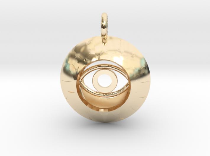 Vesica Eye Sacred Geometry Pendant 3d printed
