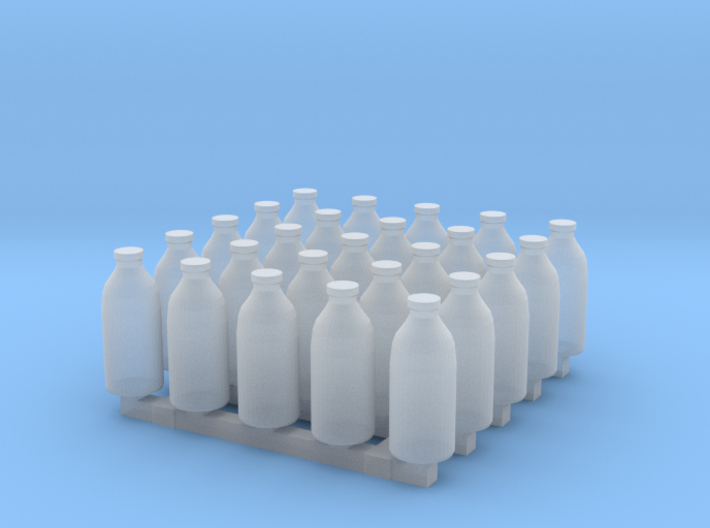 Milk bottles x25 3d printed