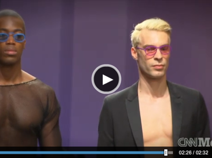 'Wire' glasses for Eyewear Kit 3d printed Wire and Pince Nez at 3D-Printshow NY on CNN!