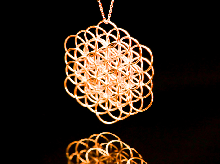 Knotted flower of life pendant tmrxcgysy by scrdtrb knotted flower of life pendant 3d printed aloadofball Choice Image