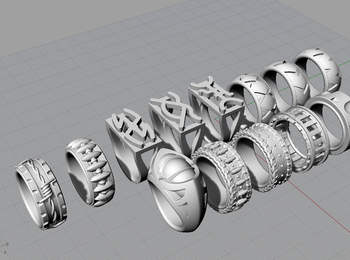 Peacemaker Ring - Size 9 1/2 (19.35 mm) 3d printed All rings in the Western Collection