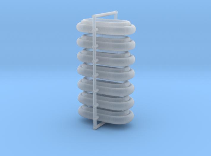 1/172 Life Raft X2 Oval Set 3d printed