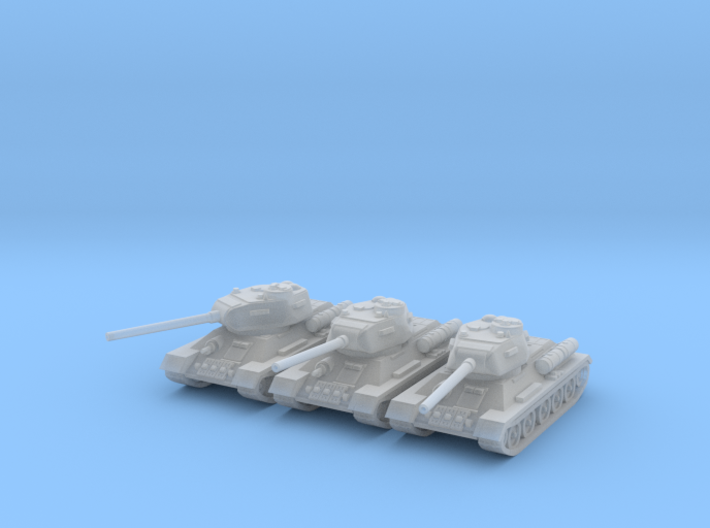 6mm T-34-85 tank (3 pieces) 3d printed