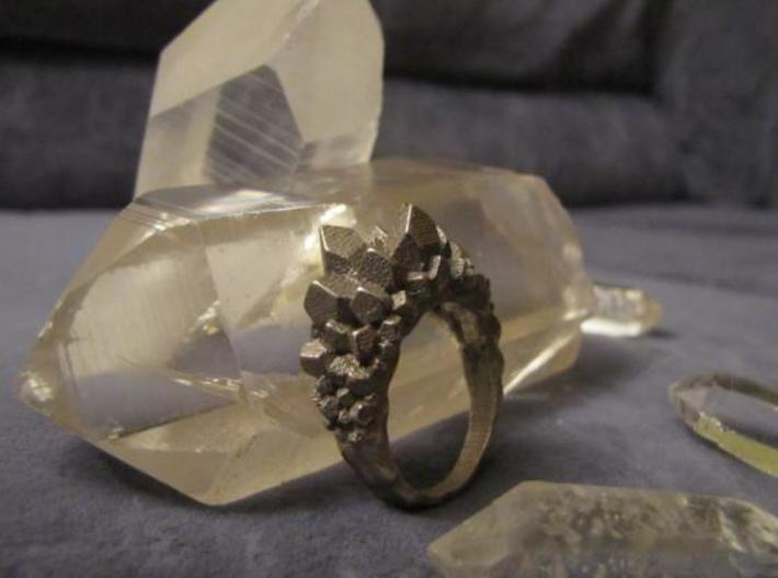 Crystal Ring size 7 3d printed Pic001