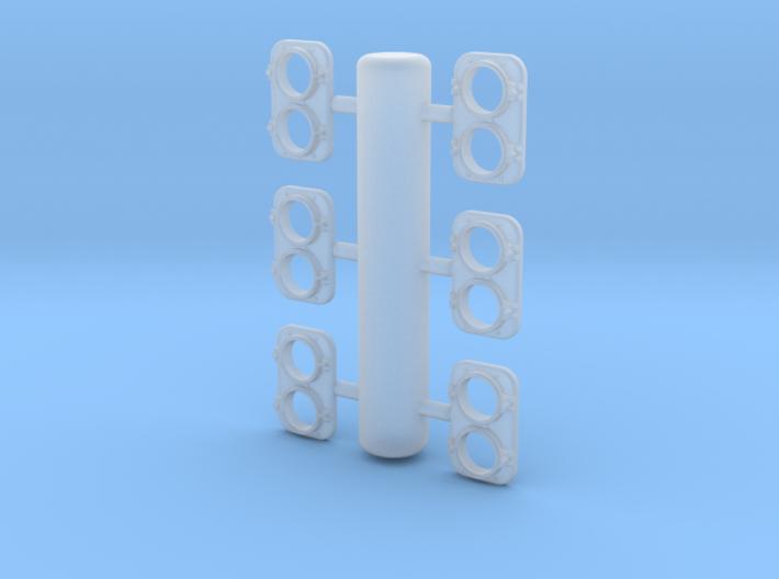 EMD Headlight 1/87.1 3d printed