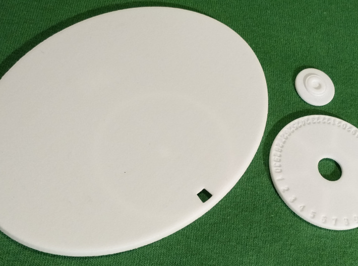120mm by 92mm Oval Wound Tracking Base 3d printed
