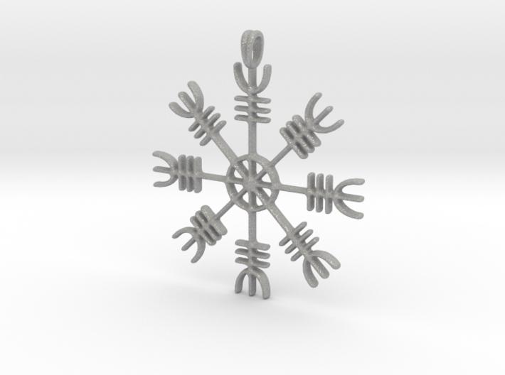 Aegishjalmur Icelandic Sign Viking Symbol Jewelry 3d printed