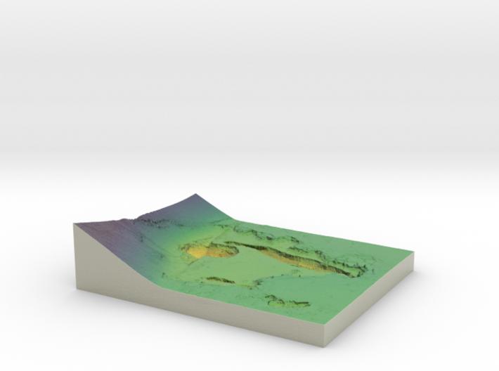 Mars Map: Depression At Base, Viridis 3d printed