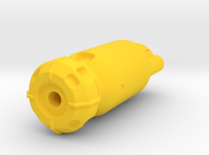 Fusion Core Airsoft Muzzle (14mm Self-Cutting) 3d printed