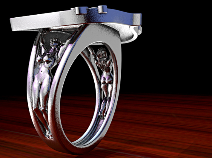 Swamis Encinitas Surf Art Ring - Customizable 3d printed Rendering to show model.
