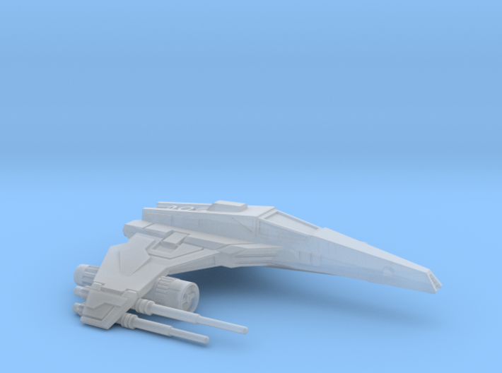 E-Wing Variant - Quad Cannon NXU 1/270 3d printed